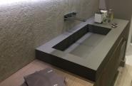 lavabo rectangle style abreuvoir noir
