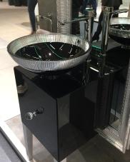lavabo rond noir