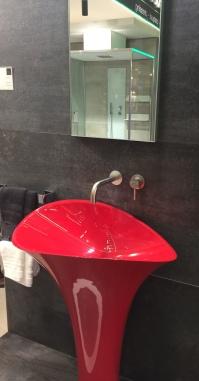 lavabo rouge