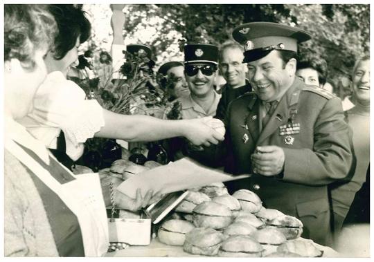 Caille à Cimiez avec Youri Gagarine