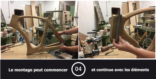 Velo en bois etape 4