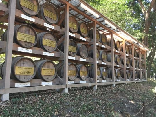 fûts de vins