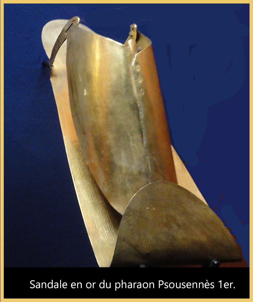12-Sandale en or du pharaon Psousennès 1er