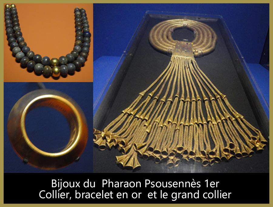 13-Bijoux du pharaon Psousennès 1er.