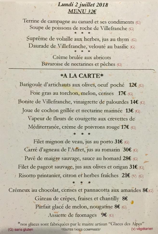 LA BELLE ÉTOILE CARFTE DU JOUR
