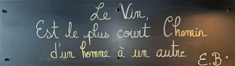 L'ATELIER NICE CITATION SUR LE VIN