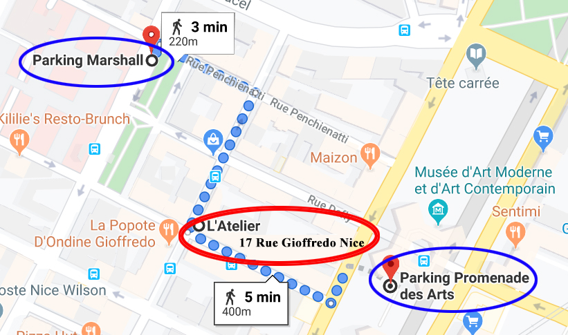 L'ATELIER-PLAN PARKINGS