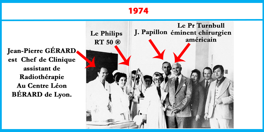 1974 Jean Papillon présente le Philips RT 50 au professeur Turnbull
