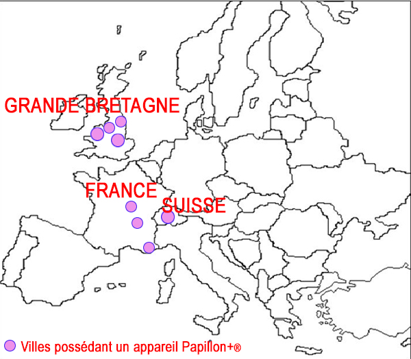 Les pays participants à cette étude européenne. a France,Le Royaume-Uni, La Suisse