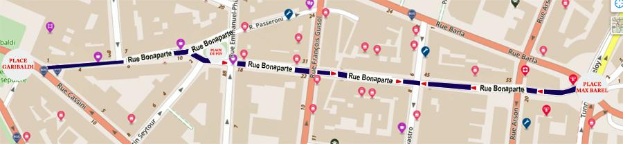 RUE BONAPARTE PLAN