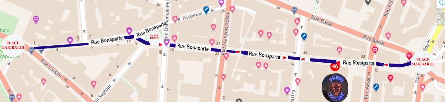 RUE BONAPARTE NICE BOUCHERIE ULYSSE PLAN