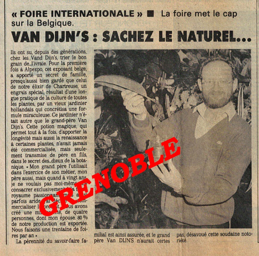 LE SECRET VAN RINJ PRESSE GRENOBLE