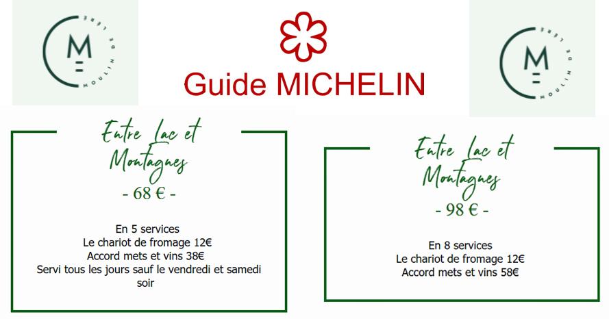 THONON Le Moulin de Léré Vailly 1 étoile au Michelin